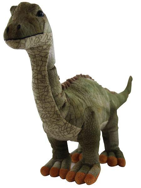Diplodocus-pehmo  Pehmoinen pitkäkaula on oiva kaveri esihistoriallisiin dinosaurusleikkeihin. Korkeus noin 70 cm.