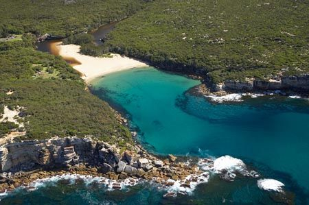 Wattamolla Reserve / Beach - 1.5 hours south of Sydney. Amazing beach with 7m waterfall jump action!
