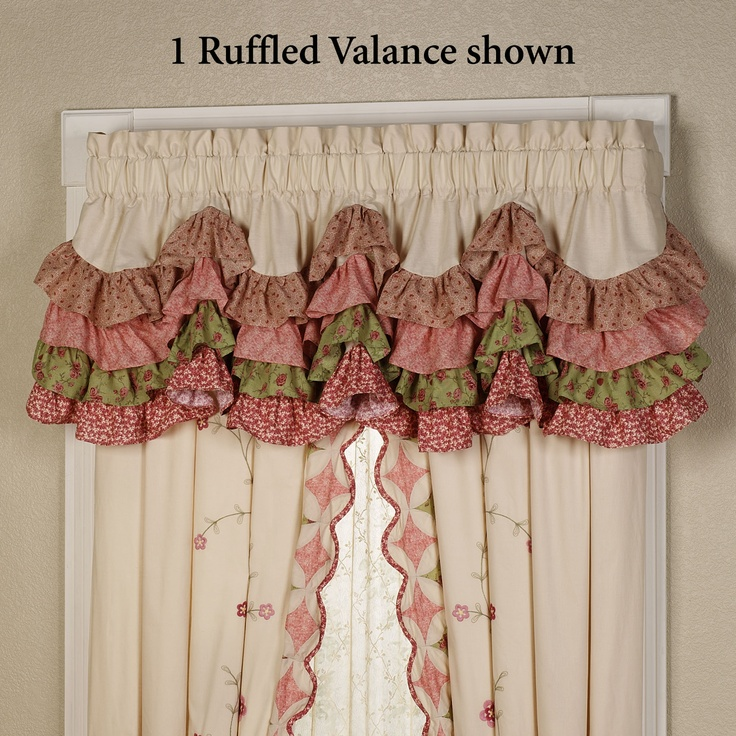 pics of ruffled kitchen curtains - Google Search