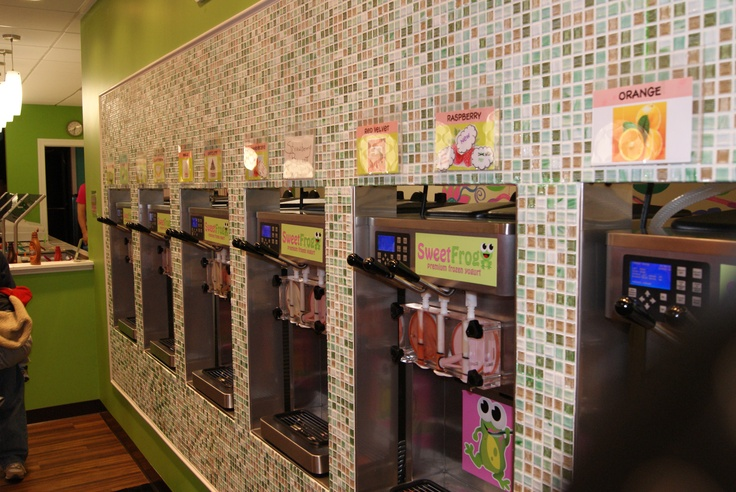 SweetFrog - what a great idea for a frozen yogurt store! Yummy!