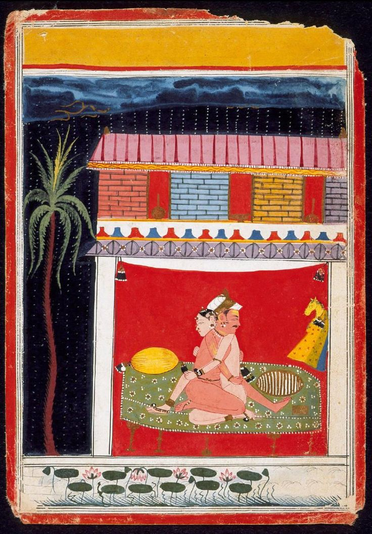 exquisite. tantra painting.  17th century Folio from an Erotic Manuscript: Painting from Malwa, Central India. Via Pop Art Machine