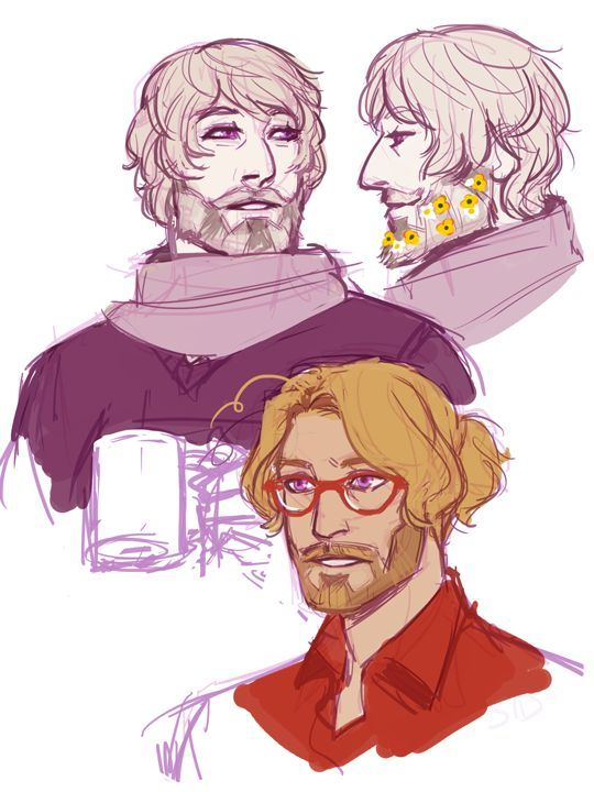 Is that Ivan with tiny flowers in his beard?<<<Yes, and he's beautiful, as is Matthew.