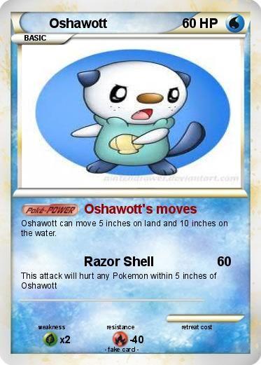 Oshawott Card Ex