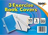 Tiger A4 Clear Exercise Book Covers (30cm x 21cm) Strong Plastic Protecting Sleeves School Notebook (3 Pack) - https://www.trolleytrends.com/?p=758066