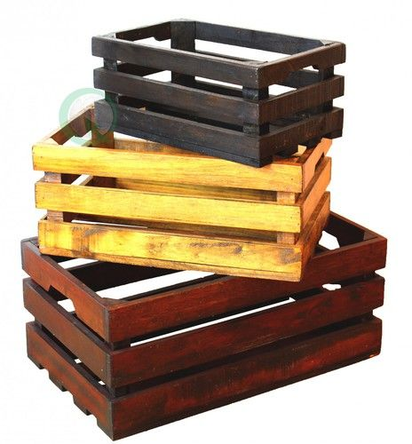 1000 ideas about old wooden crates on pinterest wooden crates crates and wooden crate boxes - Decorative wooden crates ...