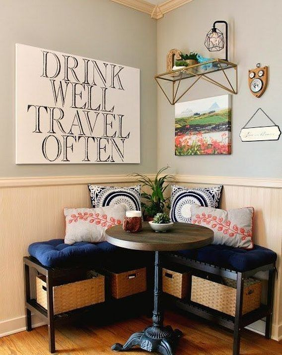 30+ simple corner breakfast nook decorating ideas diy   kitchen
