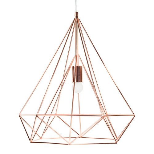Maisons du Suspension en métal monde - D 45 cm DIAMOND COPPER - 80€