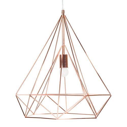 Lámpara de techo de metal D. 45 cm DIAMOND COPPER