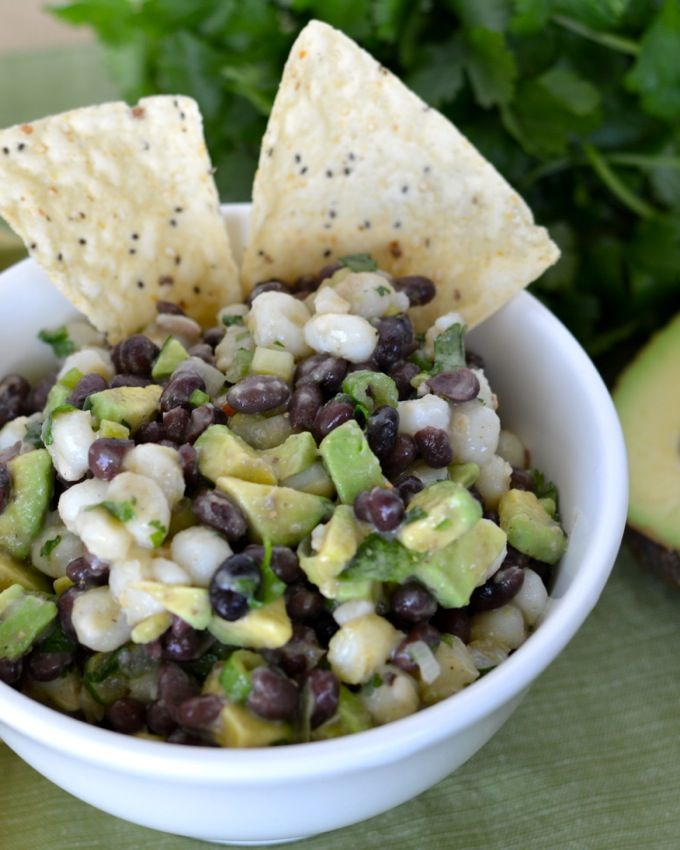Black Bean and Hominy Dip - Tasty yet healthy dip perfect as a snack or appetizer! www.jessfuel.com