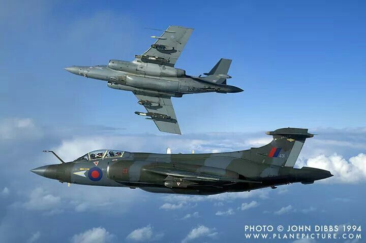 1994 saw the retirement of the venerable Buccaneer (the one breaking away was a Desert Storm vet) on one of their very last sorties from RAF Lossiemouth.