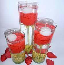 Resultado de imagen para decoracion de floreros con velas