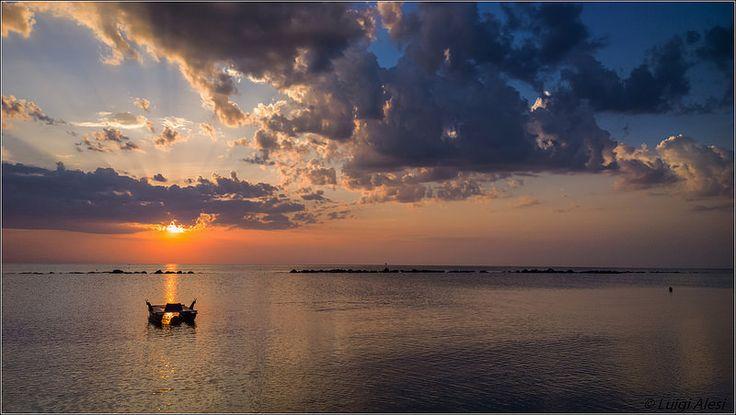 l'alba a Pescara