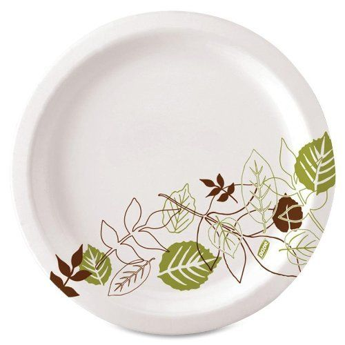 """Dixie UX9WSPK, Pathways Table Ware Plates, Heavy Weight, 8-1/2, 125/PK, Pathways/White by Dixie. $13.73. Everyday paper plates feature a multilayer design and Soak Proof Shield that provides strength and rigidity for all kinds of foods. The nature-based, Pathways design offers a crisp, white background for a clean, pure look and a falling leaf pattern in natural, contemporary colors. This upscale yet down-to-earth nature theme complements food. The 8-1/2"""" plates also come i..."""