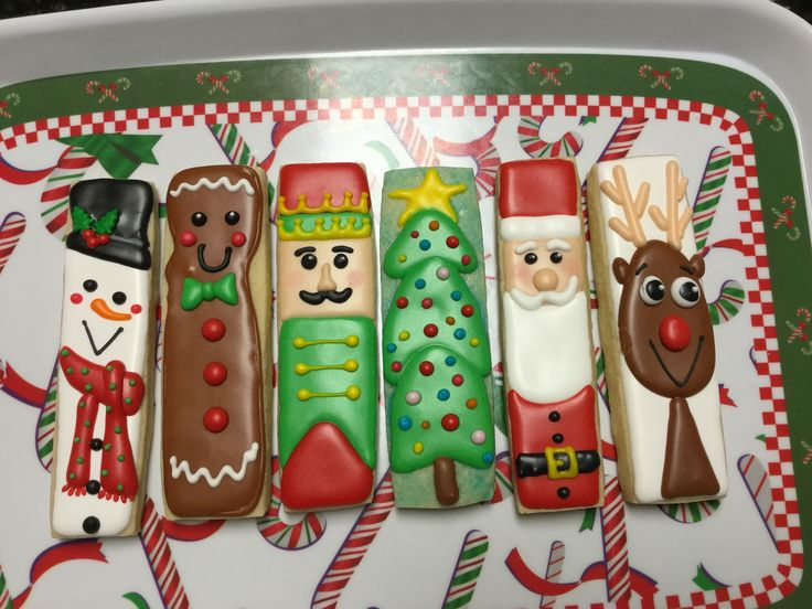 Stick Christmas Decorated Sugar Cookies by I Am the Cookie Lady