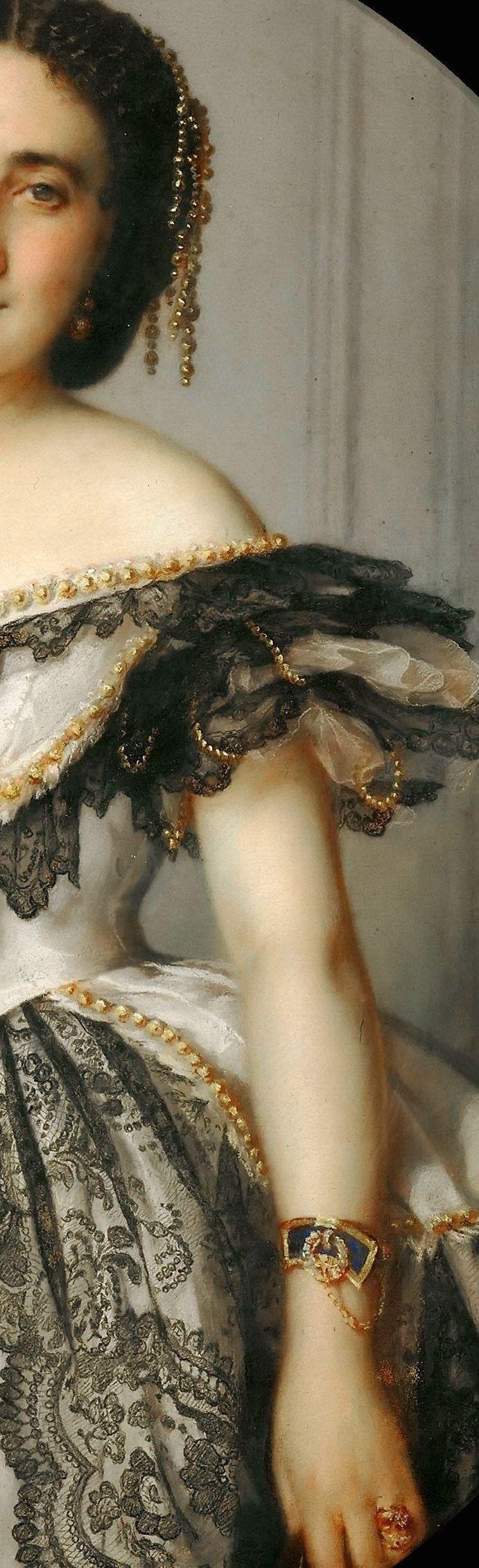 Franz Xavier Winterhalter: Portrait of a lady (Détails)
