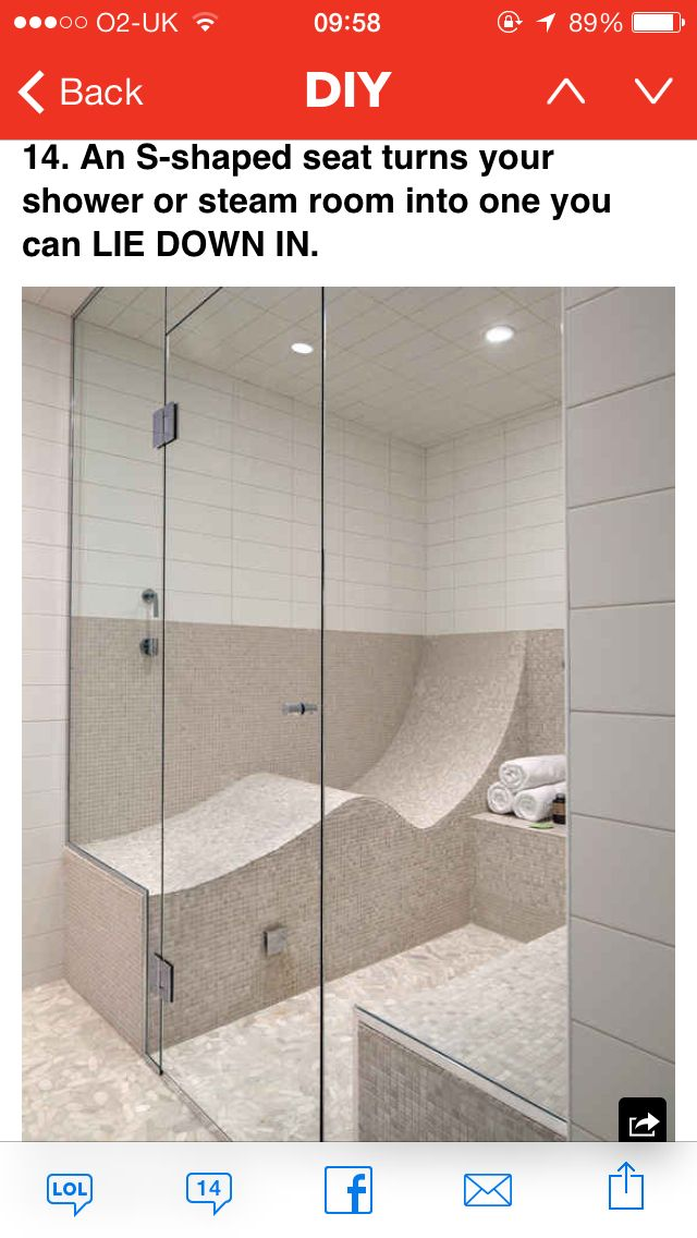 Bath /// S Shaped Seat For Shower Or Steam Room + 31 Insanely Clever  Remodeling Ideas For Your New Home