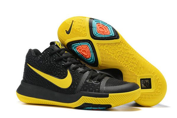 097e874dfe08 Nike Kyrie 3 2017 2018 Daily Hot Kyrie 3 Black Yellow Shoe
