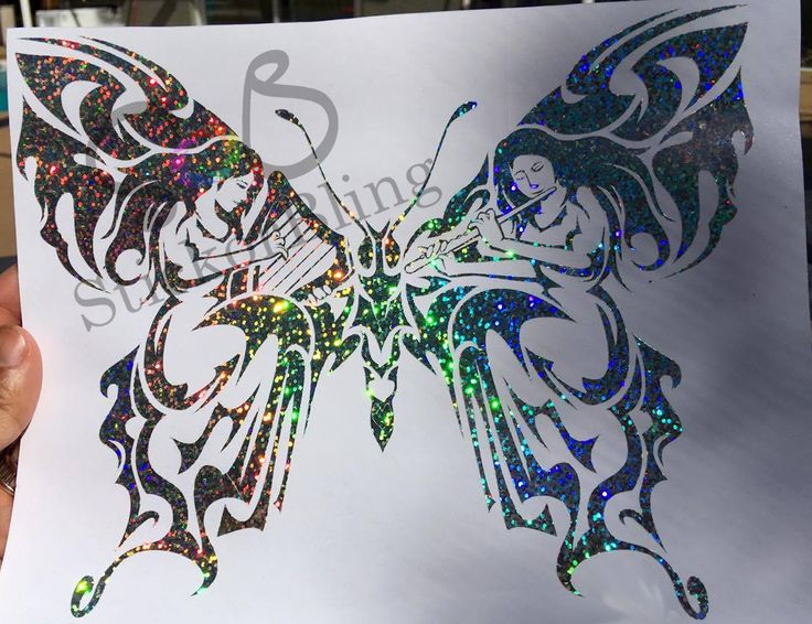 Butterfly Fairy Tribal Glitter Holographic Vinyl Decal Sticker Car - Butterfly vinyl decals