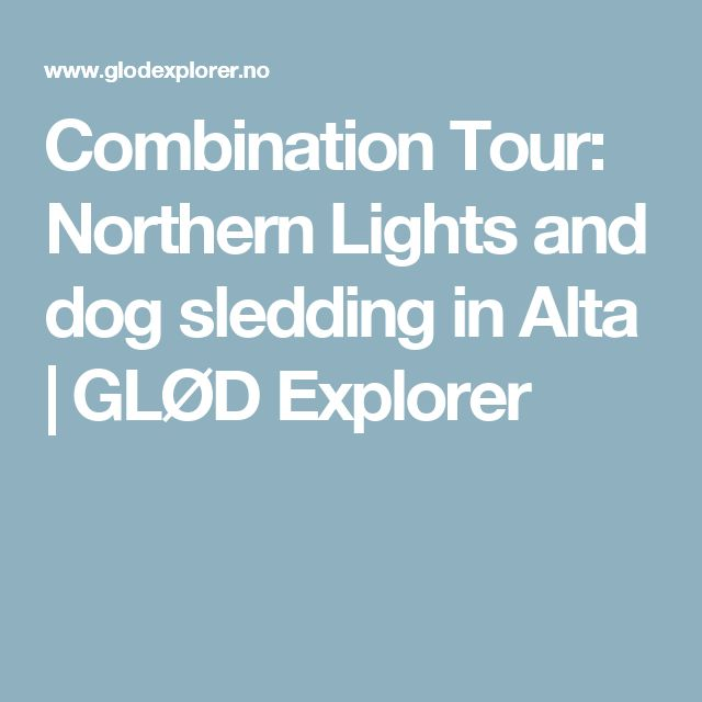 Combination Tour: Northern Lights and dog sledding in Alta | GLØD Explorer