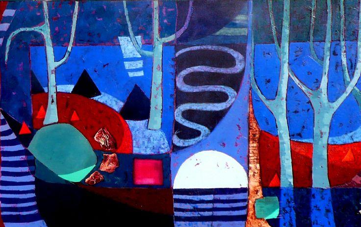 Jack's Waterhole Acrylic on Canvas 130cms x 84cms
