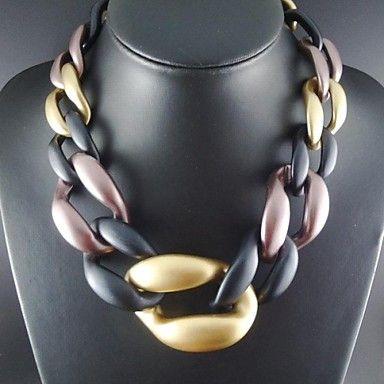 EUR € 12.47 - nya trendiga ccb material kvinnor kedja chunky halsband (slumpvis färg), Gratis frakt för alla Gadgets!, miniinthebox