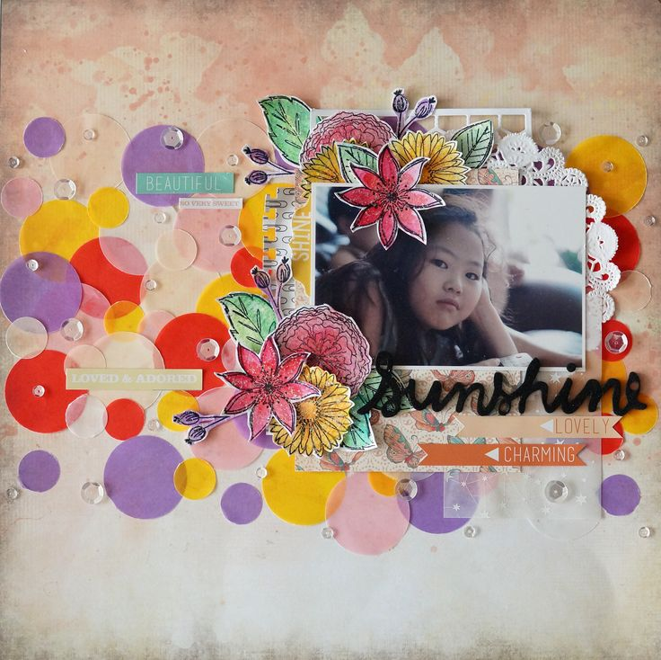 Seungeun Lee's craft room: Scrapbooking'Sunshine'