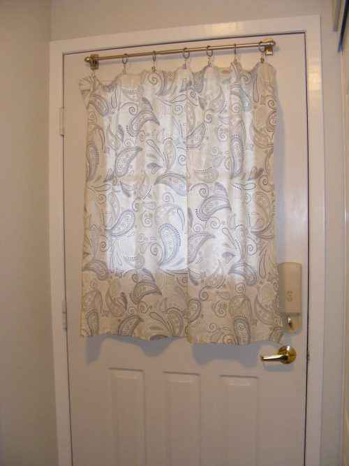 Curtain For Door With Half Window #ModernLivingRoom #MinimalistLivingRoom #ModernInterior #MinimalistInterior