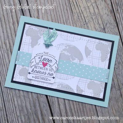 Caro's Kaartjes - voor Stampin' Up! inspiratie en het bestellen van Stampin' Up! producten: What will you stamp #63 Going Global