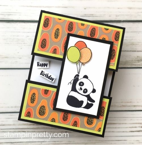 Create this simple birthday card using Stampin' Up! Panda Party stamp set - Mary Fish StampinUp