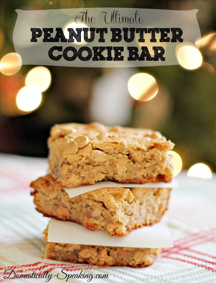 The Ultimate Peanut Butter Cookie Bar Recipe