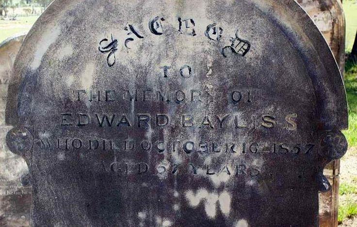 Edward Baylis born 5th February 1800, died 16th January 1857, Rawson, Rylstone, NSW. Married Matilda Rollinson 1809-1885.