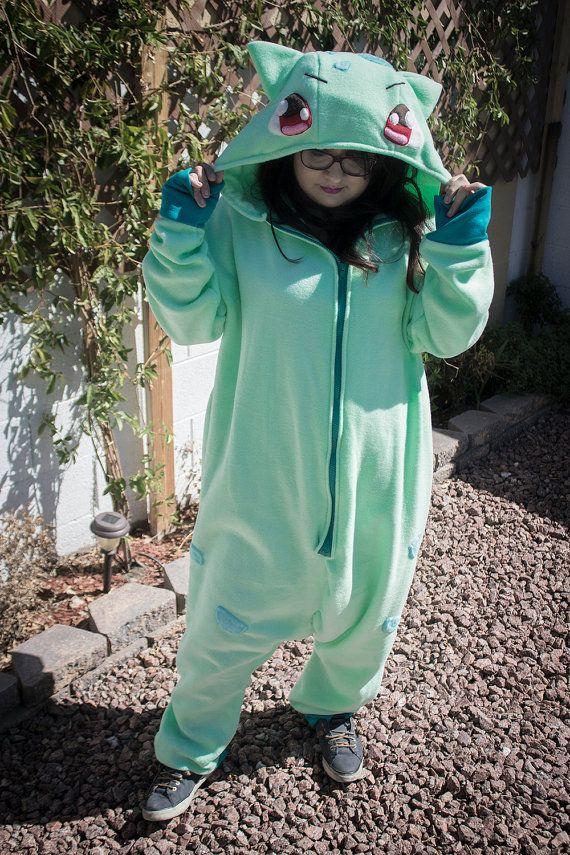 Bulbasaur Kigurumi Onesie Pajama Costume by WPStuff on Etsy