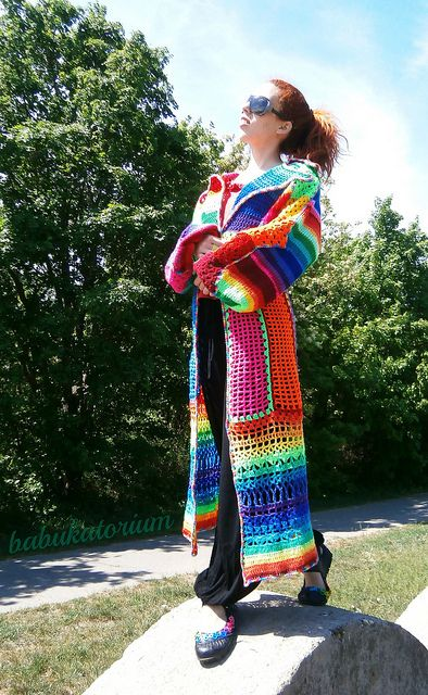I think this robe is awesome!  I always wanted to be that eclectic hippie on the block. Now I can be not only be a love child but I will look good and be warm all at the same time.