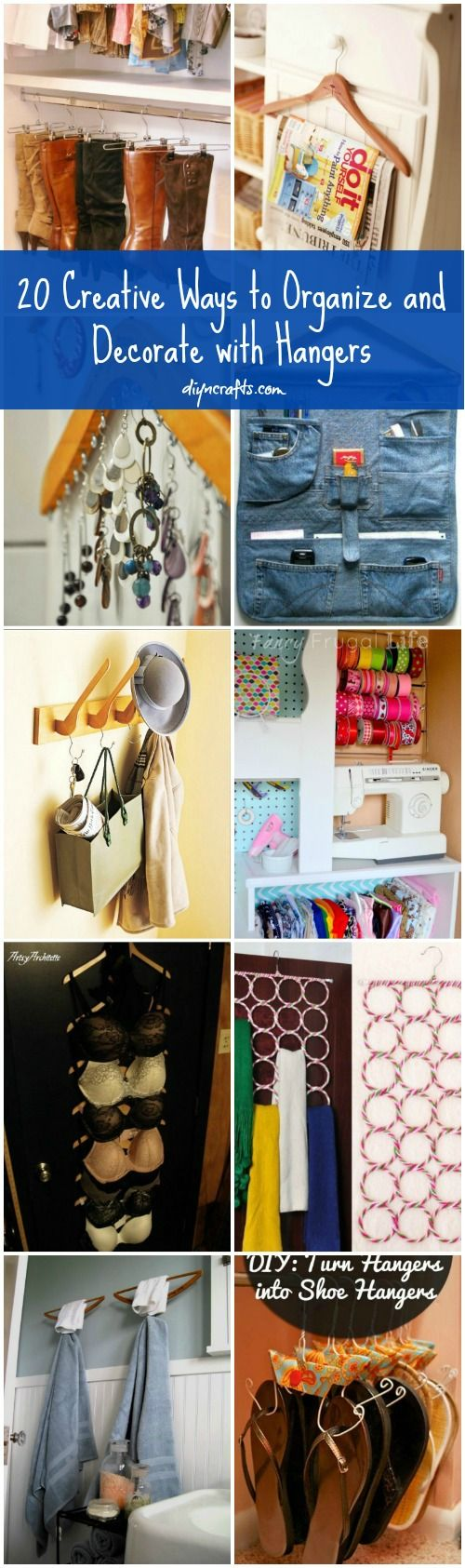 Organize with hangers?! YES! - 20 Creative Ways to Organize and Decorate with Hangers – DIY & Crafts