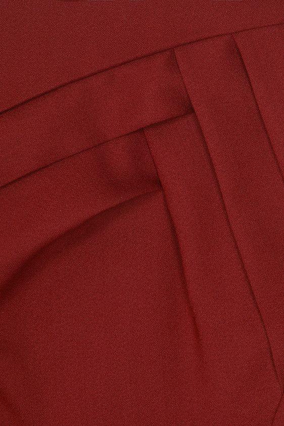 Harvard платье Ржавчина Красный - Fold    thefoldlondon.com