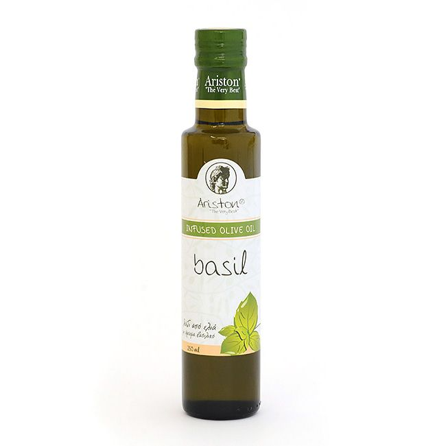 Basil flavored olive oil from Greece