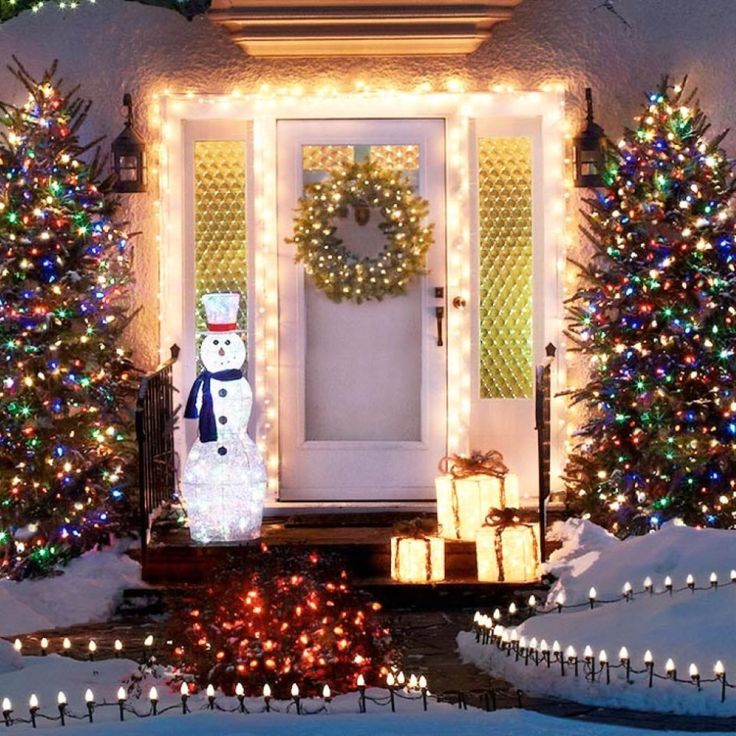 Christmas Porch Decorations Outdoor Decorations Christmas Lights Outdoor  Ideas Christmas Houses Xmas Trees Lighting Ideas Holiday