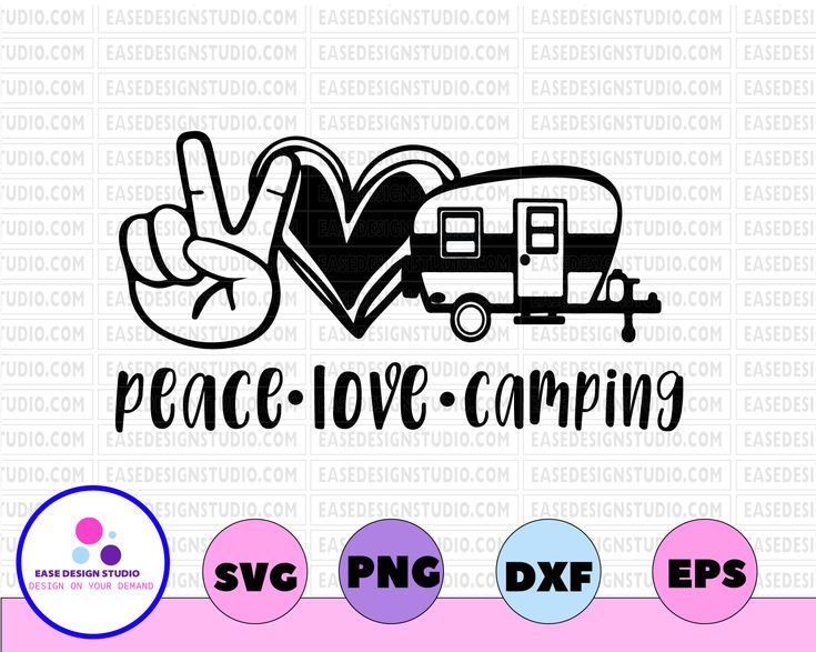 Download Peace Love Camping svg Camping svg Travel in 2020 | Peace ...