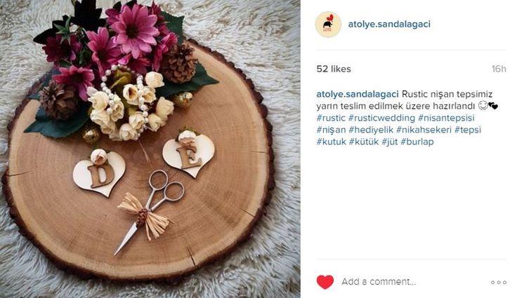 Kütük söz/nişan tepsisi Kütük tepsi Nişan tepsisi Rustic nişan tepsisi instagram : atolye.sandalagaci