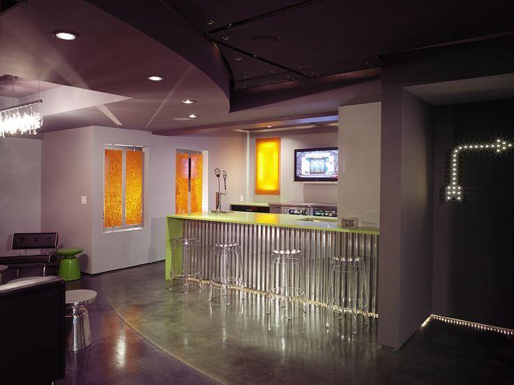 Man Cave Bar Cahuenga : Casino bar design counter top futuristic furniture and corner