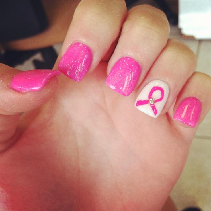 My breast cancer nails for Octobe r! #BeautyforBreastCancer #FragranceNet