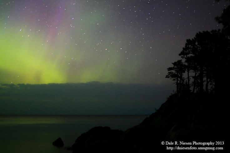 Copper Harbor, Michigan best place to see the northern lights. Drive up brockway and you can see a bit almost every night
