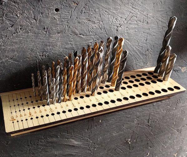Drill Bit Organizer Laser Cut4 Drill Bits Machine Shop Projects
