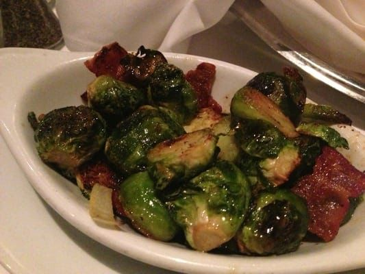 ROASTED BRUSSEL SPROUTS Ruth Chris Steak House Copycat Recipe Serves 2-3 1 lb. fresh Brussels Sprouts (not frozen) 1 tablespoon veg...