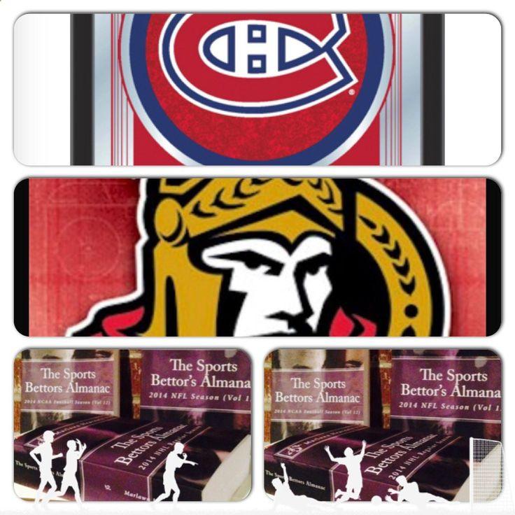 4/26/15 NHL Playoffs: #Montreal #Canadiens vs #Ottawa #Senators (Take: Montreal  100,Under 5 Goals) (THIS IS NOT A SPECIAL PICK ) The Sports Bettors Almanac SPORTS BETTING ADVICE On 95% of regular season games ATS including Over/Under 1.) The Sports Bettors Almanac available at www.Amazon.com 2.) Check for updates Marlawn Heavenly VII ( SportyNerd@ymail.com ) #NFL #MLB #NHL #NBA #NCAAB #NCAAF #LasVegas #Football #Basketball #Baseball #Hockey #SBA #Boxing #Business #Entrepreneur #Inve