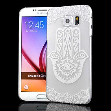 transparent Relief Handwerk Hohlfingerdruck pc Peeling Material Telefonkasten für Samsung-Galaxie-S6 – EUR € 3.99