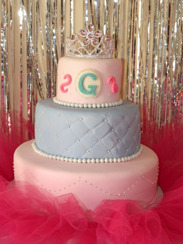 Tutu And Tiara Cake For Baby Shower