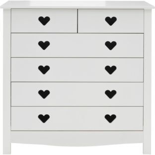 Buy Mia 4 + 2 Drawer Chest - White at Argos.co.uk - Your Online Shop for Children's chests of drawers #ArgosRoomInspiration