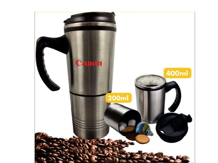2 in on Themal Mug 400ml R74.98 excl vat, branding available.