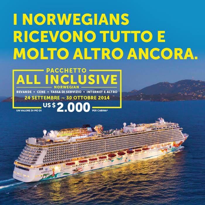 Norwegian lancia pacchetti all-inclusive per le crociere del 2015